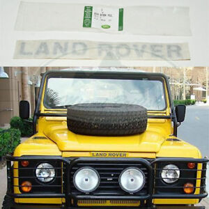 LAND ROVER FRONT HOOD DECAL NAME PLATE DEFENDER BTR8704MUL OEM