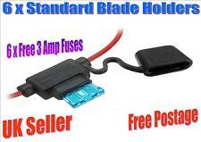 6 x Splash Prova STANDARD BLADE IN LINEA titolari con 6 x 3 amp FUSIBILI (F)
