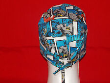 Unisex Surgical Scrub Hat Cap Medical Skull Women Men Do Rag Handmade Tie Back