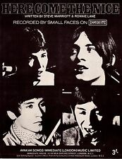 Small Faces-Here Come The Nice-1967 Sheet Music-Original UK-Immediate Music-Rare