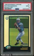 1998 Bowman Chrome Refractor #1 Peyton Manning Colts RC Rookie PSA 9 MINT