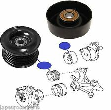 LEXUS LS400 LS430 97-07 DEFLECTION GUIDE PULLEY V RIBBED BELT IDLER & ROLLER SET