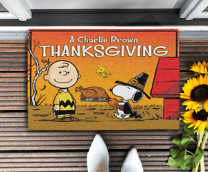 Thanksgiving with Charlie Brown, Snoopy Funny Doormat