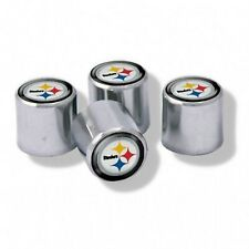 Chrome Plastic Football Pittsburgh Steelers Tire Valve Stem cap Covers 4 Pc set