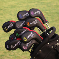 Zipper Closure 11pcs Golf Iron Headcovers Covers For Taylormade Mizuno Callaway