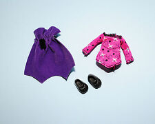 Pink & Purple Vampire Costume w/ Cape & Black Shoes KELLY Outfit Genuine BARBIE