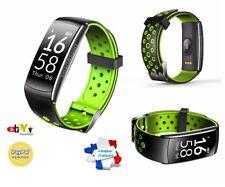 Montre Connectée Noir/vert Smartwatch Bracelet étanche Bluetooth Android Apple