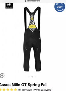 Assos mens Medium MILLE GT SPRING/FALL KNICKERS TIGHTS BIB New With Tag RRP £159