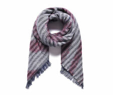Acrylic Multi-Coloured Square Women's Scarves and Shawls