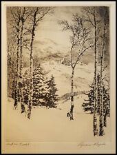 """Lyman Byxbe, """"Aspen Trail"""", Etching, 7 X 5 1/4 - BID ONE DOLLAR - NO RESERVE!"""