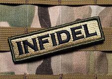 "Multicam Infidel Tactical Morale military morale 1x4"" Patch"