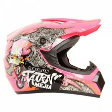 Kinder Crosshelm Mejia Cross Helm Motorradhelm Kinderhelm Quadhelm pink
