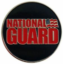 Two Sided National Guard Golf Ball Marker with USA Hat Clip