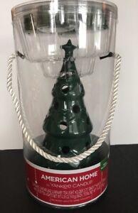 Yankee Candle American Home Ceramic  Luminary W/4 Balsam  Fir Tea Lights NEW