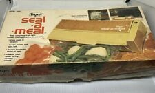 Vintage Dazey Seal a Meal Model Sam 1 with Instructions and 6 Cooking Pouches