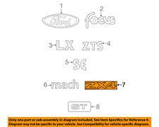 FORD OEM 05-06 Focus Trunk Lid-Emblem Badge Nameplate 5S4Z5442528AA