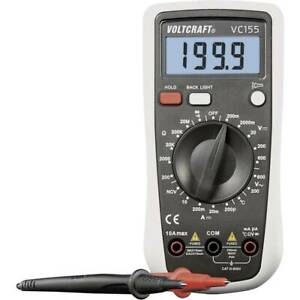 VOLTCRAFT VC155 Hand-Multimeter digital CAT III 600 V Anzeige (Counts): 2000