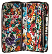 Sakroots Large Zip Around Wallet, Optic in Bloom