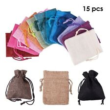 15 Pcs Mixed Color Drawstring Bags Party Gift Pouch Candy Bag Wedding Decor
