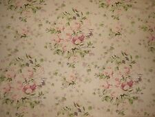 Laura Ashley LA1275 FLORABUNDA TEAROSE Floral Linen Home Decor Drapery Fabric