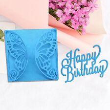 Happy Birthday Metal Cutting Dies Stencil Scrapbook Album Paper Card Embossing