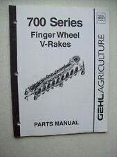 Original Gehl 700 Series Finger Wheel V Rakes Parts Manual 909923