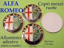 ALFA ROMEO STEMMI 5,6 cm 56 mm CERCHI COPRI MOZZI Badge Logo Fregi Cup Wheels
