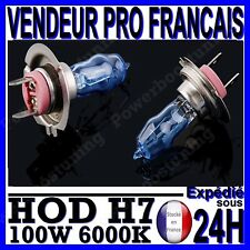 AMPOULE PLASMA HOD H7 100W LAMPE HALOGENE FEU EFET XENON BLANC BLANCHE 6000K 12V