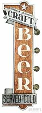 Craft Beer Double Sided Large Metal Sign W/ LED Lights, Brewery Bar Man Cave