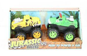 """NEW"" Playtek Jurassic Racers Friction Powered Trucks Toys - Push to Power & Go!"