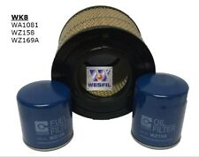 WESFIL HOLDEN RODEO 03-08 3.0 DIESEL AIR OIL FUEL FILTER SERVICE KIT