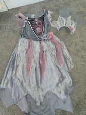 Girls Halloween Costume Dead Bride Age 7-8
