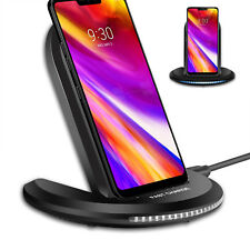 Qi Wireless Fast Charger Charging Pad Stand Dock For LG G7 ThinQ/LG V30/ G6 Plus
