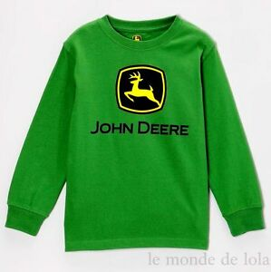 JOHN DEERE LONG SLEEVE T-SHIRT GREEN LIKE DADDY COUNTRY KIDS BOYS 4 & 7 NEW