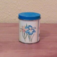 Ben Rickert Miniature Country Floral Canister with 3 Blue Soaps 3.5 oz.