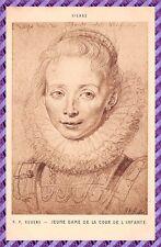 Tarjeta Postal - P. P. RUBENS - Joven Dame de la patio del' infante