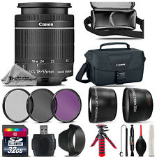 Canon EF-S 18-55mm STM Lens + UV CPL FLD Filter - for EOS Rebel T5, T5i  Camera