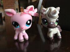 LPS Littlest Pet Shop Pet Pairs # 1819 Pink Deer # 1820 Grey Unicorn Pony Horse