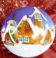 Bola para árbol de Navidad Azul Pintado a mano decoración
