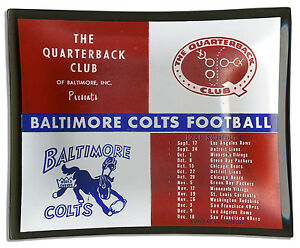 1961 Baltimore Colts Ashtray Made of Smoked Glass