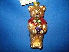 Old World Christmas Teddy Bear with Doll Brown Ornament 12006B 37/13