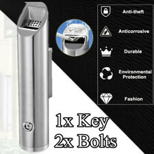 1.8L Outdoor Cylinder Wall Mounted Ashtray Cigarette Ash Bin With Key Commercial