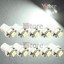 10 LED T5 B8.5D Per Cruscotto Quadro Strumenti SMD BIANCO Lampade Lampadine Luci