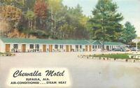 Eufaula Alabama~Chewalla Motel~Roadside~Owner Hornsby~Cars~1954 Linen Postcard