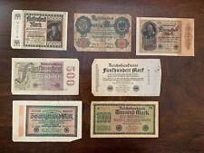 reichsbanknote 1908, 1922, 1923
