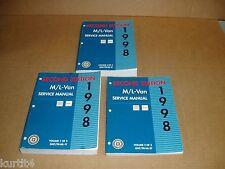 1998 Chevrolet Astro GMC Safari Van Minivan shop service dealer manual SET
