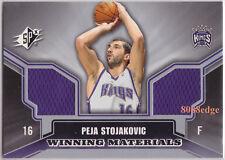 2005-06 SPx WINNING MATERIALS DUAL SWATCH: PEJA STOJAKOVIC #WM-PS KINGS ALL-STAR