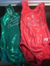 Two Alpha Factor Leotards. Child Large. Christmas On The Chesapeake Leo's! Euc