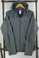 PATAGONIA Size Medium Mens Guide Jacket Hooded Softshell Gray Coat Stretchy
