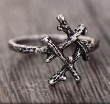 Viking Runa Gothic tamaño del anillo de sucursal Hagalaz P 1/2